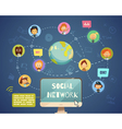 Social Networking People Of Different Occupations vector image vector image