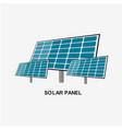 solar panel energy template design vector image