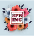 spring banner with the text and paper vector image
