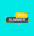 summer sale banner bright design idea for vector image