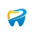 tooth dental healthcare logo vector image vector image