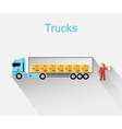 Trucks Lorry Icon Design Style Flat vector image vector image