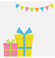 Two Gift boxes couple with ribbon and bow Present vector image vector image