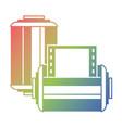 two roll tape photo negative retro design vector image vector image