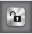 Unlock icon - metal app button vector | Price: 1 Credit (USD $1)
