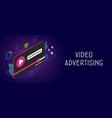 video advertising digital media marketing concept vector image vector image