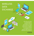 wireless data exchange equipment for connection vector image