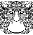 zentagle monkey head with ethnic motifs vector image vector image