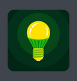 eco lamp concept background cartoon style vector image