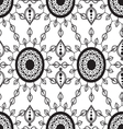 Monochrome Floral Pattern vector image