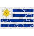 Uruguay soccer balls vector image