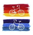 Hand-drawn retro style bicycle Watercolor vector image
