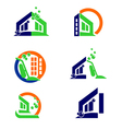 Home Cleaning Logo and Apps Icon vector image