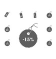 15 sale icon sale and discount vector image vector image