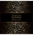 Abstract background with roses luxury black and
