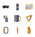 alpinism tool icon set cartoon style vector image vector image