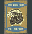 an eagle on vintage background vector image
