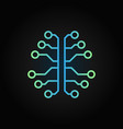 artificial intelligence brain creative outline vector image vector image