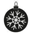 black white christmas ball snowflake silhouette vector image