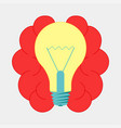 brain with lightbulb idea brainstorm icon design vector image
