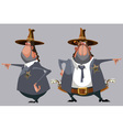 cartoon man sheriff in a hat stands in front vector image vector image