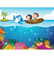 Cartoon Tropical scene vector image vector image