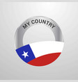 chile my country flag badge vector image