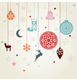 christmas toys on threads vector image vector image
