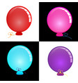 circle balloon bright and colorful vector image