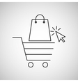 concept e-commerce cart and bag shop design vector image vector image