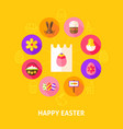 concept happy easter vector image vector image