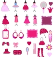 Cute dress and accessories vector image