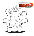 cute funny elephant character vector image vector image
