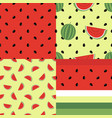 cute seamless pattern collection with watermelons vector image vector image