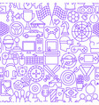 cyber game line seamless pattern vector image vector image