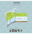 Daiquiri cocktail flat style isometric vector image vector image