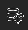 datacenter security chalk white icon on black vector image