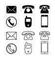 different icon phone simple telephone vector image vector image