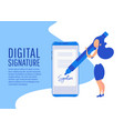 digital signature creative people collection vector image vector image