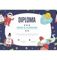 Diploma Cartoon Template vector image vector image