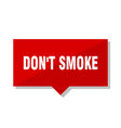 dont smoke red tag vector image vector image