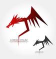 dragon silhouette logo vector image vector image