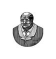 elegant man old afro american gentlemen vector image vector image