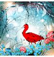 Fantasy Nature Ibis vector image vector image