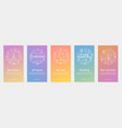 five vertical banners - own business vector image vector image