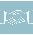 Flat Handshake Icon Business vector image