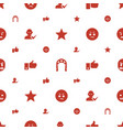 good icons pattern seamless white background vector image vector image