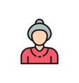 grandmother old woman pensioner senior flat vector image vector image