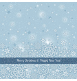 grey background of snowflakes with label vector image