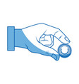hand business man put coin bank vector image